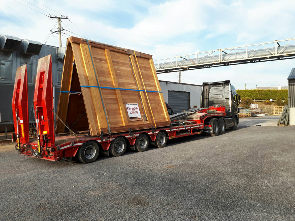 Transport of Doors for installation in Dublin