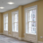 New Timber Windows with Panelling and Architrave surrounds