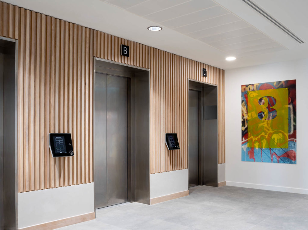 Wall panelling to Lift Areas