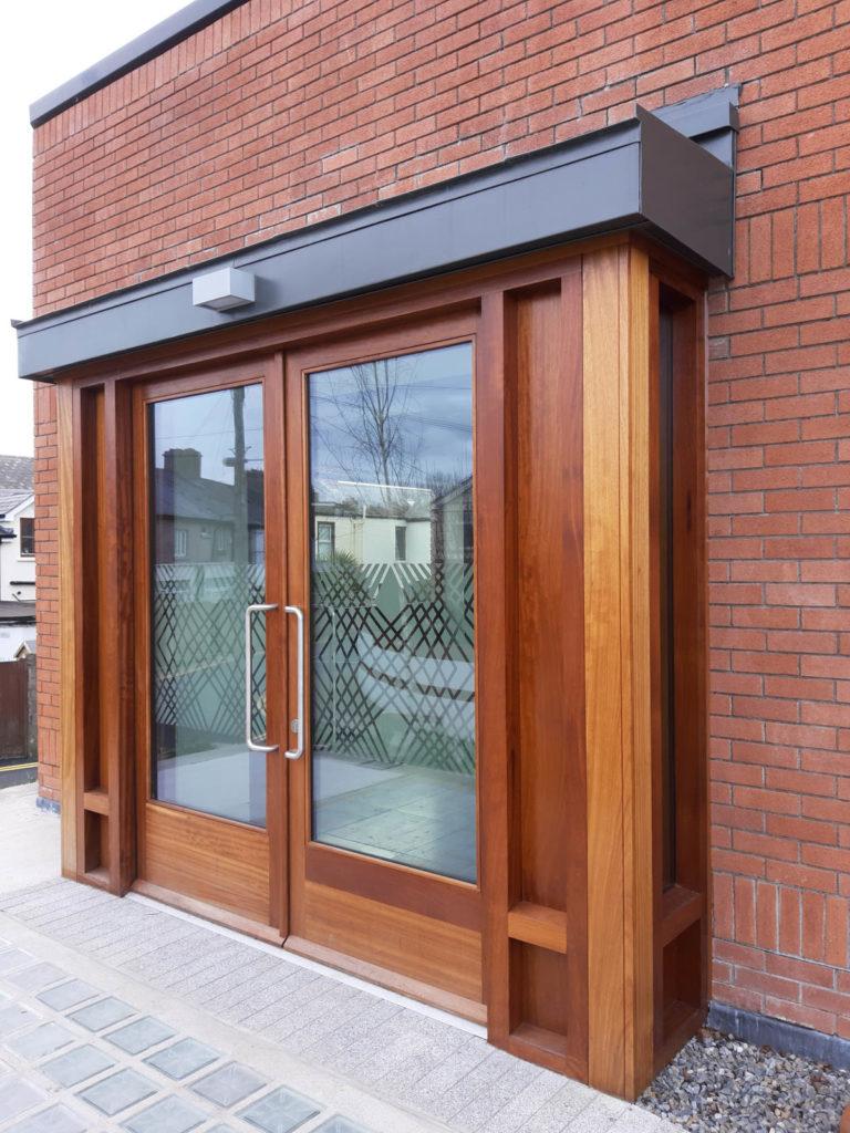 External Doors opening In