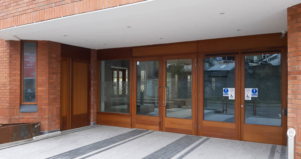 Entrance Doors and screen – fire rated