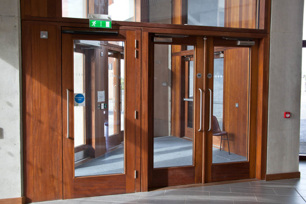Main Entrance Doors into the Building
