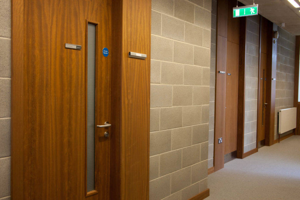 Fire rated doors to Corridors