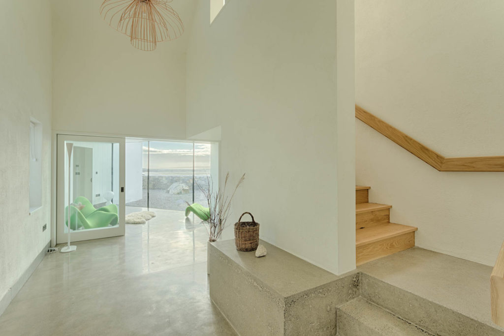 White Oak Stairs (polished concrete by others)