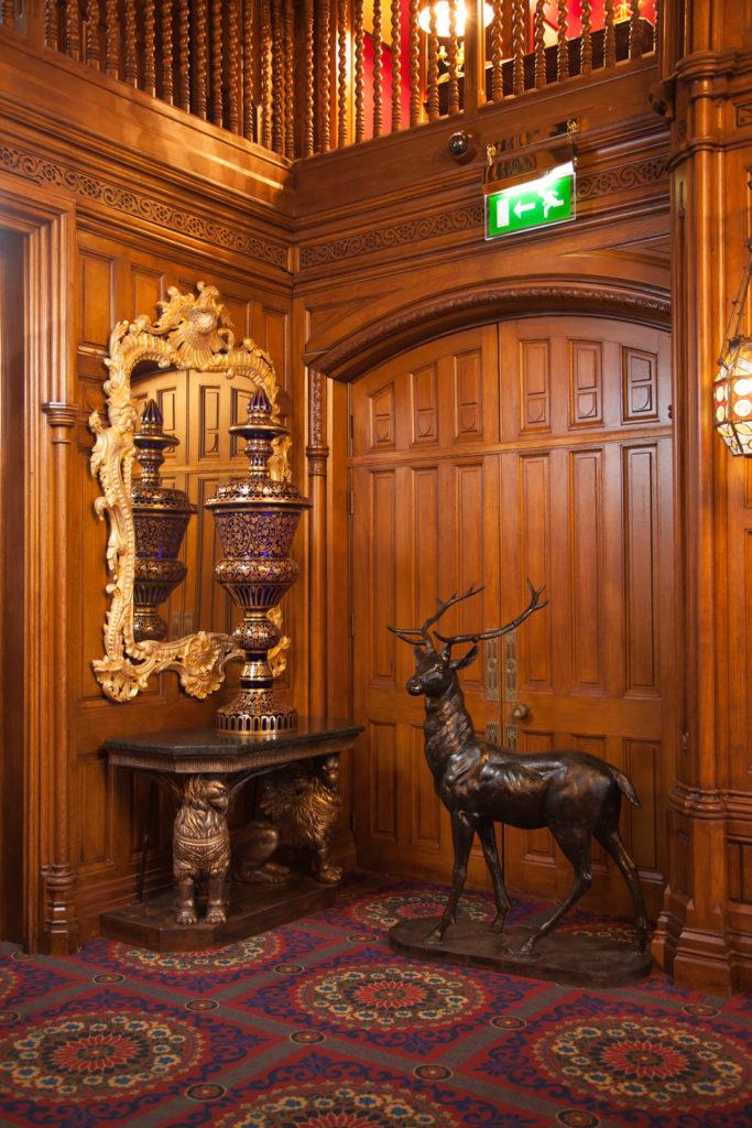 The Oak Hall, Detail of Oak Door, Panelling & Balustrade