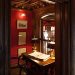 Closeup of Timber detail to room overlooking the The Oak Hall